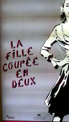 17 août 2007 Paris Métro Porte de Charenton Affiche La fille coupée en deux Misstic