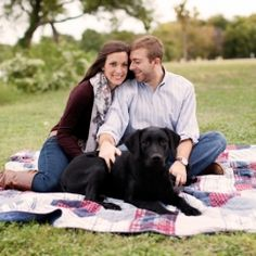 Want an engagement session with your dog? See how this couple did it!