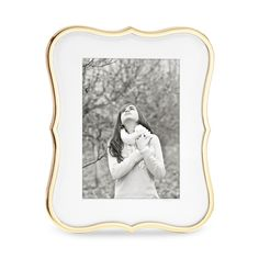 """kate spade new york Crown Point Gold Frame, 5"""" x 7"""" - Display your favorite memories in this classic frame by kate spade new york."""