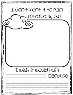 Cloudy with A Chance of Meatballs / Weather Writing Prompt