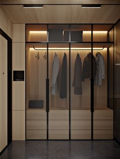 Floor Apartment on Behance Wardrobe Design Bedroom, Bedroom Wardrobe, Wardrobe Closet, Wardrobe Door Designs, Closet Designs, Küchen Design, House Design, Walk In Closet Design, Dressing Room Design
