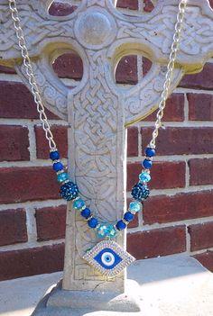 Evil Eye Nazur Bonguku Protection Necklace by @MamaCreepy on Etsy