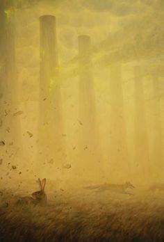 Post-apocalyptic animal portraits painted by Martin Wittfooth - Bleaq Martin Wittfooth, Post Apocalyptic Fiction, Animal Painter, Land Art, Pet Portraits, Painting Inspiration, Street Art, Digital Art, Illustration Art