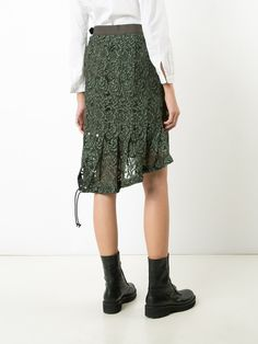 Sacai hi-low key lace skirt