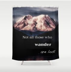 Shower Curtain Mountain Scenic Not All by LocationPhotography  -- Join DigiColorCreations.com today and make custom-designed items for your Etsy shop!