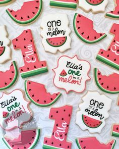 37 Super Ideas For Fruit Decoration Birthday Watermelon Cakes First Birthday Cookies, 1st Birthday Party For Girls, First Birthday Decorations, First Birthday Themes, Baby First Birthday, Birthday Ideas, Watermelon Birthday Parties, Fruit Birthday, Birthday Nails