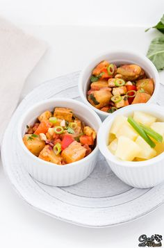 Tofu and Kale Bowl with a Curried Peanut Sauce | Tofu, Peanut Sauce ...