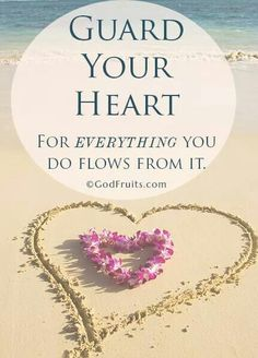 Keep your heart with all vigilance, for from it flow the springs of life. (Proverbs 4:23 ESV)