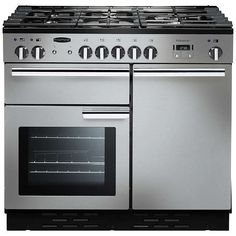 BuyRangemaster Professional + 100 Dual Fuel Range Cooker, Stainless Steel/Chrome Trim Online at johnlewis.com