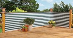 Ideas for making a backyard private using fences and screens, making a fence taller, covering a chain link fence, and living fence ideas.