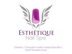 esthetique nail spa free beauty salon logo concept 454 340