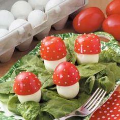 Alice in Wonderland Mad Hatter Tea Party Ideas Mushroom Appetizers, Mushroom Recipes, Cute Food, Good Food, Yummy Food, Fruits Decoration, Fairy Food, Fairytale Party, Festa Party