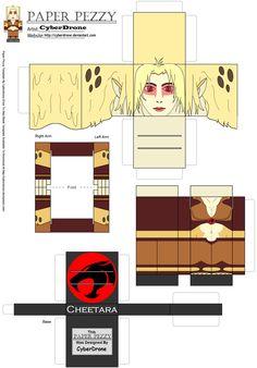 Paper Pezzy- Cheetara '2011' by CyberDrone.deviantart.com on @deviantART