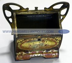Rare Huntley and Palmers Art Nouveau Biscuit Tin