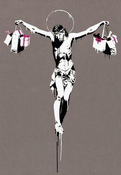Banksy is a pseudonymous England-based graffiti artist, political activist, film director, and painter. His satirical street art and subve. Banksy Graffiti, Street Art Banksy, Bansky, Banksy Canvas, Banksy Prints, Banksy Artwork, Art Pop, Urbane Kunst, Political Art
