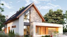 "Проект коттеджа ""Marivas"" | Plans | Проекти будинків Modern Bungalow House Design, Minimal House Design, Modern Villa Design, Big Houses Exterior, Dream House Exterior, Model House Plan, New House Plans, Home Building Design, Building A House"