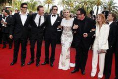 My favorite Basterds. Eli Roth, Michael Fassbender, Brad Pitt, Diane Kruger, Quentin Tarantino, Mélanie Laurent, Christoph Waltz.
