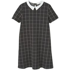Babydoll Dress (455 MXN) ❤ liked on Polyvore featuring dresses, vestidos, mixed print dress, doll dress, zip dress, zipper dress and pattern dress
