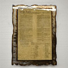 American Fluid Metal Constitution Sign $260.00