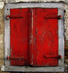 Red | Rosso | Rouge | Rojo | Rød | 赤 | Vermelho | Maroon | Ruby | Form| Style | Texture | Pattern | Red Houses, Cool Doors, Abstract Photos, Shades Of Red, Windows And Doors, Architecture Details, Shutters, Decoration, Beautiful Homes
