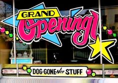 """Bakersfield splash WINDOW Painting WIZARD lettering Commercial Advertising"""