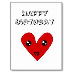 Happy Birthday From my Happy Heart Post Card  $0.95