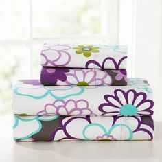 Great floral to brighten any dorm room! #PBDorm  Madison Floral Sheet Set | PBteen