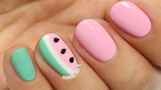 Cute Watermelon Nail Art