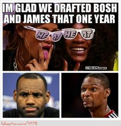 Chris Bosh and LeBron James React! - http://weheartnyknicks.com/nba-funny-meme/chris-bosh-and-lebron-james-react
