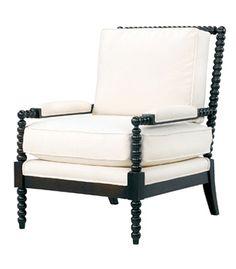 spool legged chair