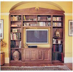 Ah! E se falando em madeira...: Gabinete para Livros e TV