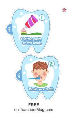 Dental Health Worksheets for Preschool and Kindergarten Creative Activities For Kids, Space Activities, Health Activities, Preschool Activities, Gum Health, Dental Health, Dental Hygiene, Oral Health, Manners For Kids