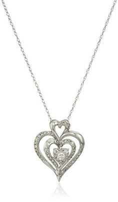 10k Gold Diamond Heart Pendant Necklace (1/4 cttw, I-J Color, I2-I3 Clarity)