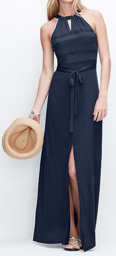 Goes with everything navy blue long dress