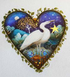 Heart art print. 'The Gift'. By Amanda Clark. by earthangelsarts