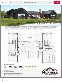 Modern House Plans 28288 The houses of my dreams. House Layout Plans, Barn House Plans, Family House Plans, New House Plans, Dream House Plans, Modern House Plans, House Layouts, House Floor Plans, U Shaped House Plans