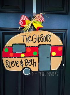 Hey, I found this really awesome Etsy listing at https://www.etsy.com/listing/241585638/camping-door-hanger-camper-decor-rv