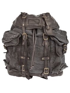 This is my dream leather backpack. Got to get this now as a christmas gift for my self ! Gents Fashion, Fashion Art, Puppy Backpack, Expensive Handbags, Animal Bag, Masculine Style, Kinds Of Clothes, Stylish Men, Leather Working