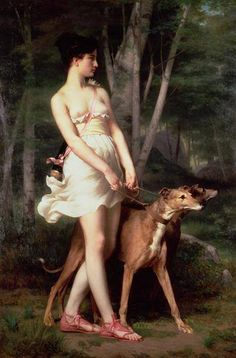 Does anyone recognize this painting?  Diana the Huntress Giclee Print Saint-Pierre, Gaston Casimir ???