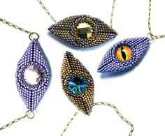 Beading pattern/ beading tutorial for seed beadweaving- Lucky Diamonds geometric beadwork reversible pendants and earrings
