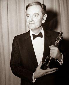 David Lean with one of seven Academy Awards won by Lawrence of Arabia.