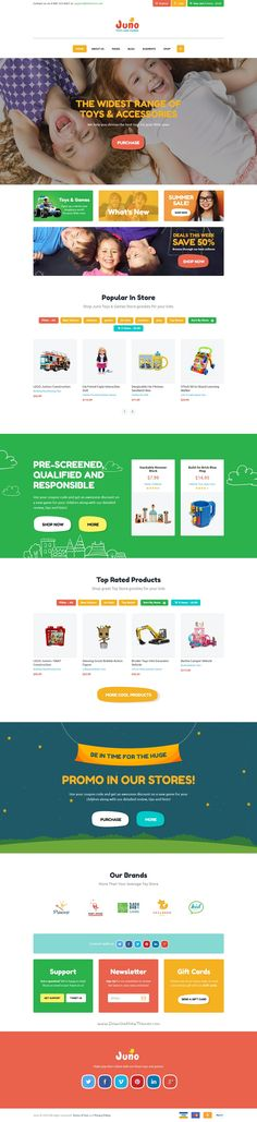 Juno is a cute and colorful premium #WooCommerce @WordPress theme for stunning #kids toys, clothes #eCommerce website download now➯ https://themeforest.net/item/juno-kids-toys-games-store/17354674?ref=Datasata