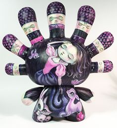 """Custom Painted Kidrobot 8"""" Dunny painted by """"64 Colors"""" http://www.64colors.com"""