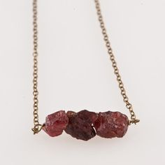 Garnet Necklace now featured on Fab.