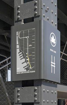 The High Line Signage And Environmental Graphics - Pentagram Design