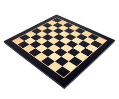 """Black Wood Chess Board with 2"""" Squares"""