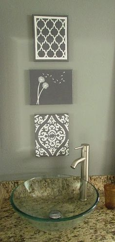 Great idea for type A'ers like myself.  HA!  handpainted stenciled canvas
