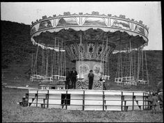 men on carousel