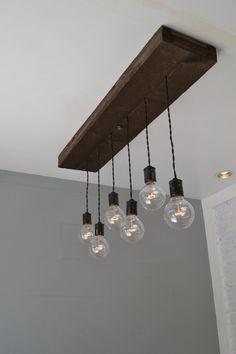 Wood Pendant Light - Hanging Light - Swag Light - Multi Pendant Light - Pendant fixture - Ceiling Pendant - Interior Decor - Home lighting
