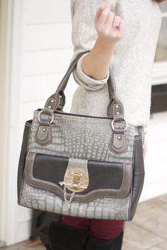 grey Nicole Lee handbag